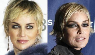 Sharon Stone wygląda niezwykle ponętnie i seksownie, a następnego dnia  potrafi zmienić się nie do poznania