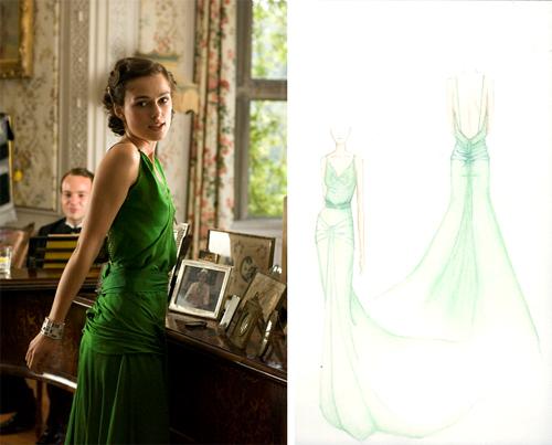 Okrzyknięta najwspanialszą kreacją filmową - zielona suknia Keiry Knightley z filmu \