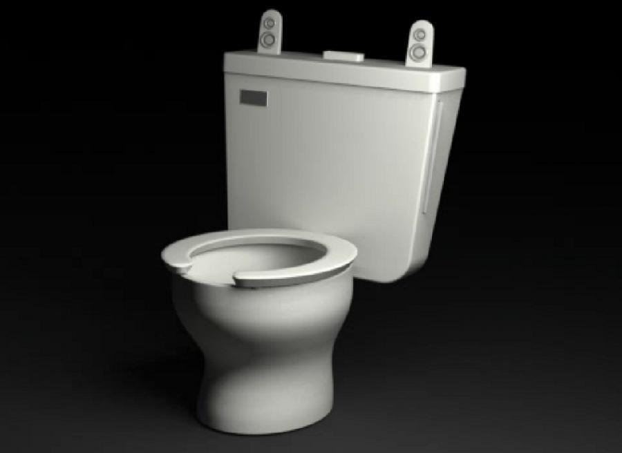 Toaleta zaprojektowana pod laptop MacBook Air
