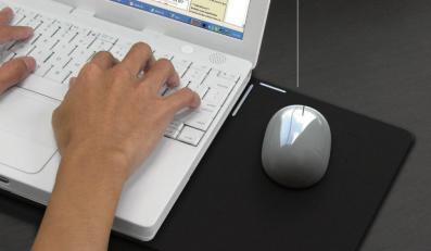 Mysz zasilana ciepłem z laptopa