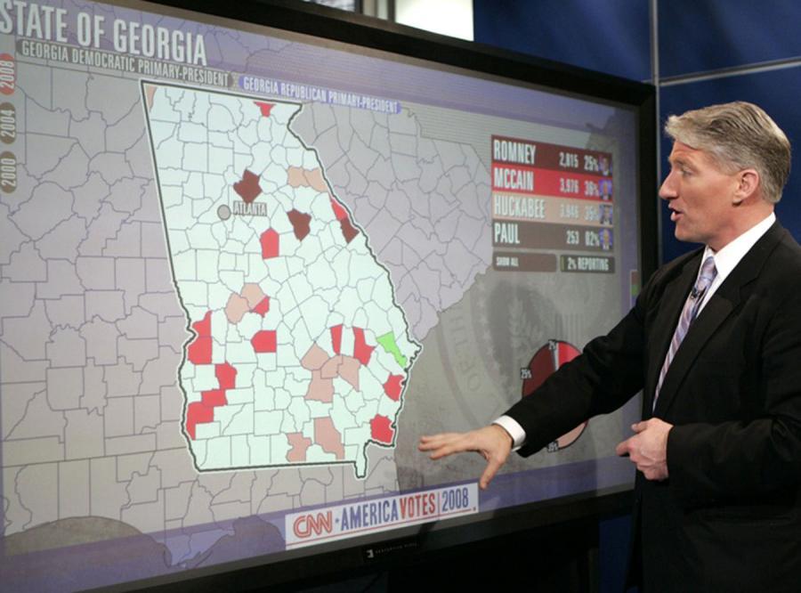 Wielki ekran dotykowy to najnowszy nabytek w studiu CNN