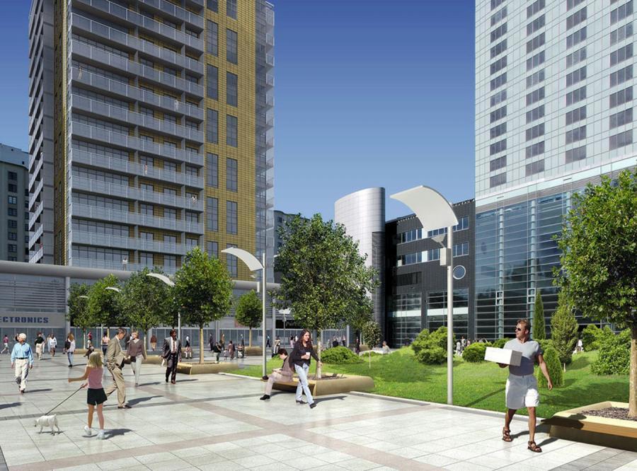 Budowa apartamentów przy Hiltonie ruszyła niedawno