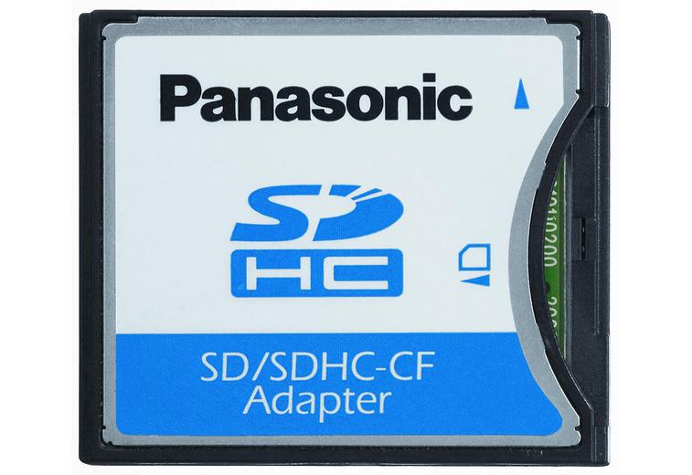 Szybkie przełączanie między formatami z adapterem kart SD/SDHC-CF