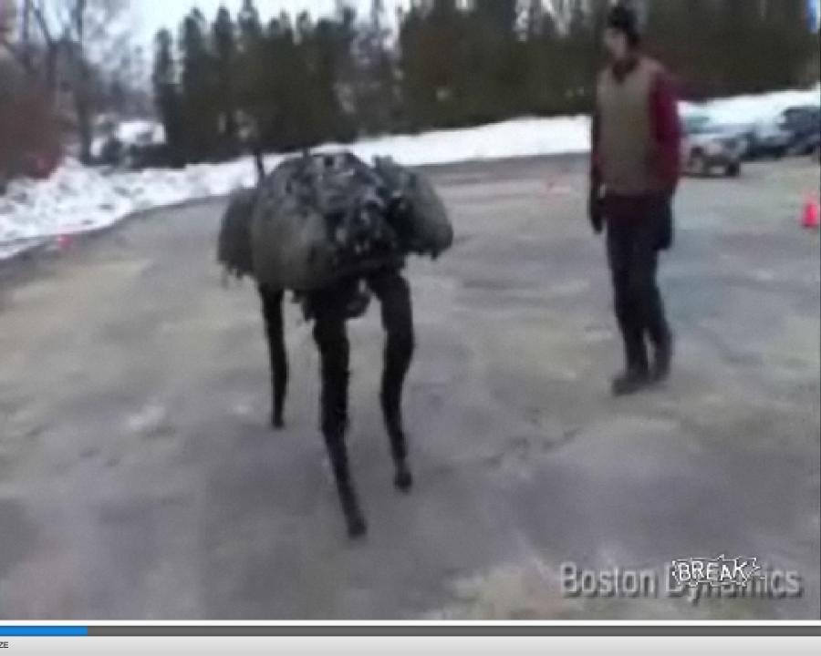 Ogromny robo-pies przeraża