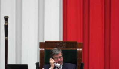 Marszałek Komorowski podda traktat pod głosowanie dopiero, jak będzie pewien wyniku