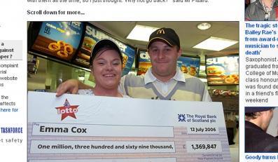 Wygrał 6 milionów, ale woli nadal robić hamburgery