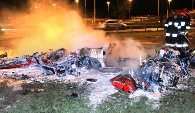 Ferrari, kórym rozbił się Zientarski, należało do byłego wiceprezesa Orlenu