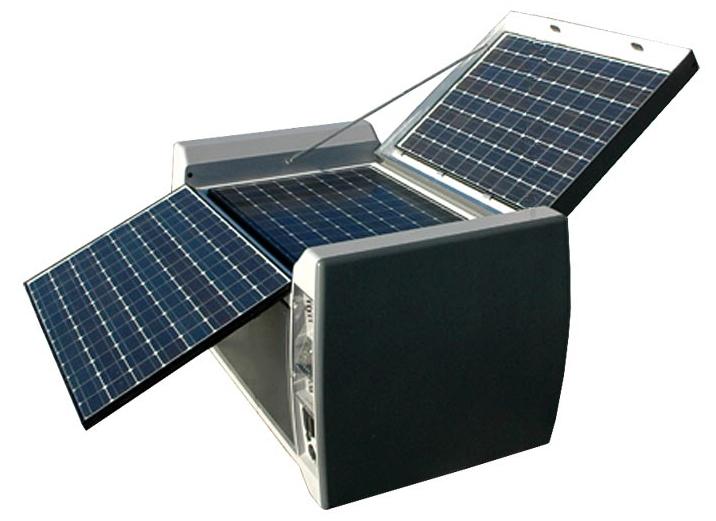 Przenośna bateria słoneczna dla domu na działce daje 3500 watów energii
