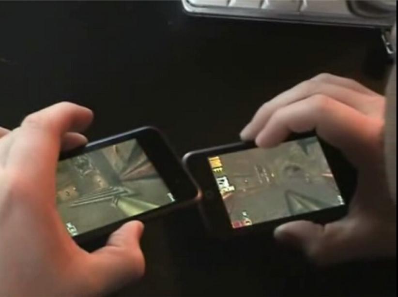 Quake3 na iPod Touch z funkcją żyroskopu