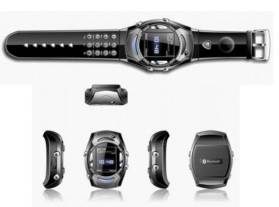 Zegarek z telefonem, który odtwarza filmy