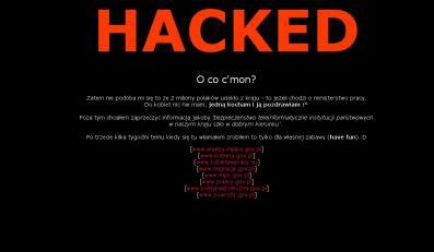 W nocy haker zablokował stronę Ministerstwa Pracy