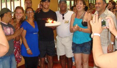 Roger ze swoją rodziną