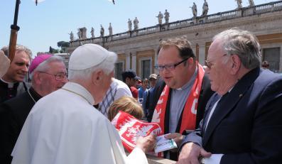 Papież będzie się modlił o pomyślność polskiej reprezentacji