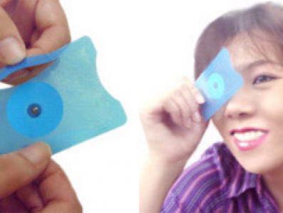 Do kupienia w Japonii: mikroskop w formie jednorazowej karty