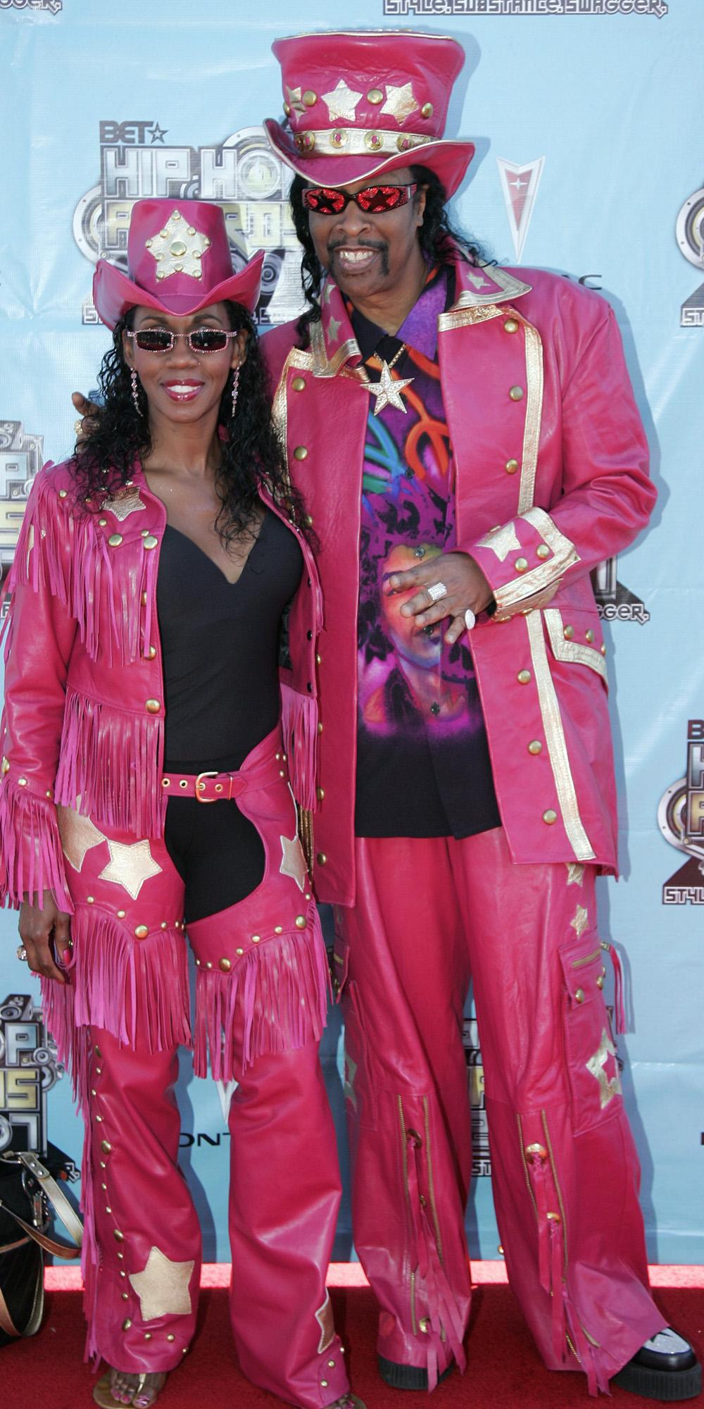 Bootsy Collins z żoną Patti Collins