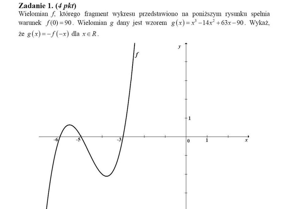 Zadanie maturalne z matematyki z błędem
