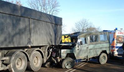Wypadek konwoju wojskowego w Zachodniopomorskiem