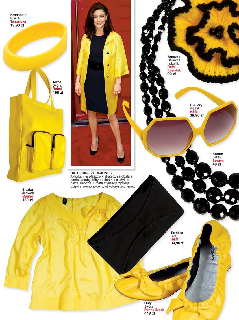 Kolor żółty idealny na lato. Ubierz się jak Catherine Zeta-Jones.