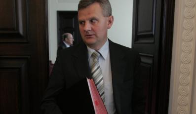 Minister skarbu Aleksander Grad