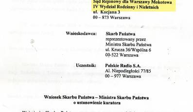 Taki wniosek z ministerstwa trafił do warszawskiego sądu