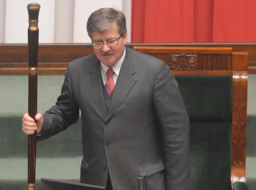 Marszałek Sejmu, Bronisław Komorowski, walczy z turystyką poselską