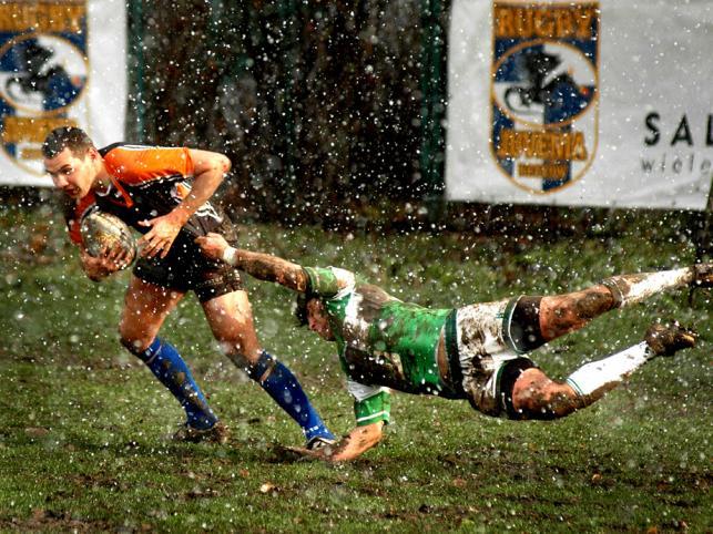 II miejsce w kategorii Sport. Mecz rugby Juvenia Kraków - Lechia Gdańsk
