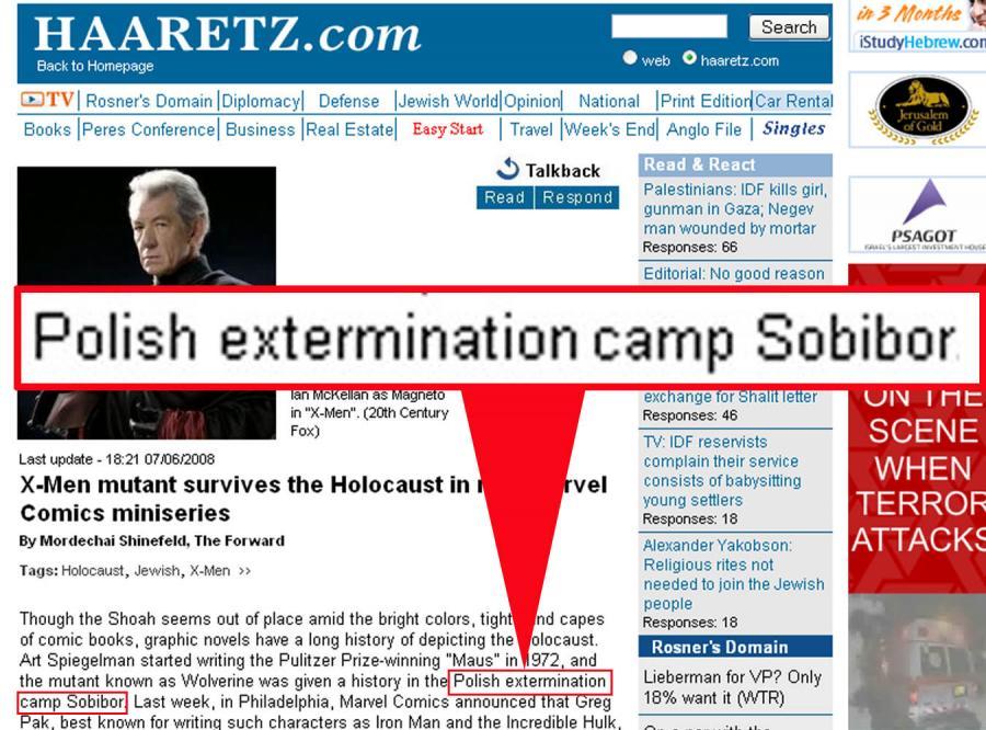 Izraelska prasa: Sobibór to polski obóz zagłady