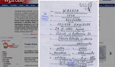 """Opublikowane przez """"Wprost"""" akta z książki IPN o Wałęsie"""