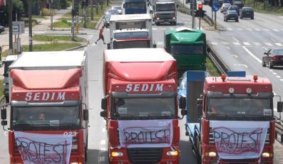 Dziś kolejny protest kierowców ciężarówek