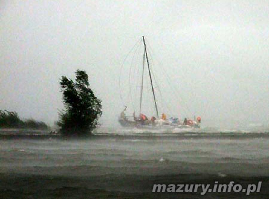 Mazury szykują się na huragan