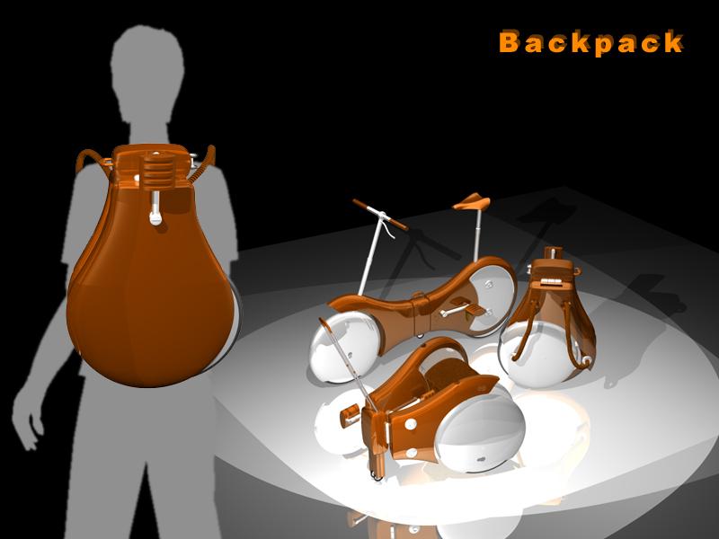 Rower składany w plecak