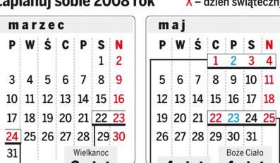 Dobrze zaplanuj rok, a będziesz mógł zafundować sobie dodatkowe dni wolne od pracy