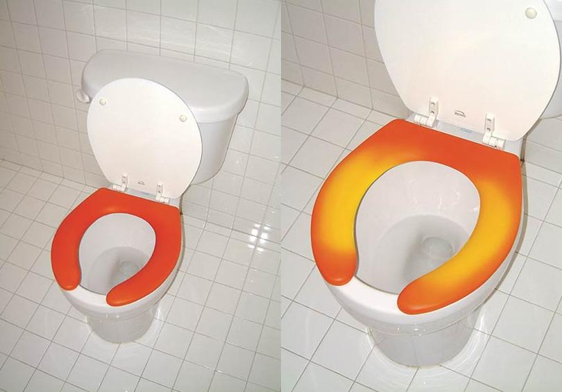 Czy ktoś siedział na toalecie przed nami? Termoczuła deska wszystko pokaże!
