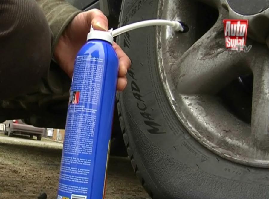 Przebita guma? Pomoże łata w spreju…