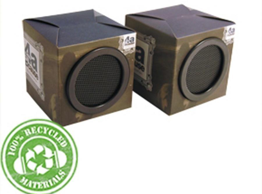 Tekturowe głośniki mają uratować środowisko naturalne